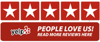 Yelp, five star, Boston, people love us, screen printing, embroidery